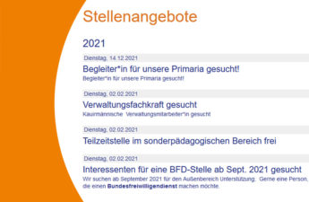 Stellenausschreibung der Freien Aktiven Schule Stuttgart 2021